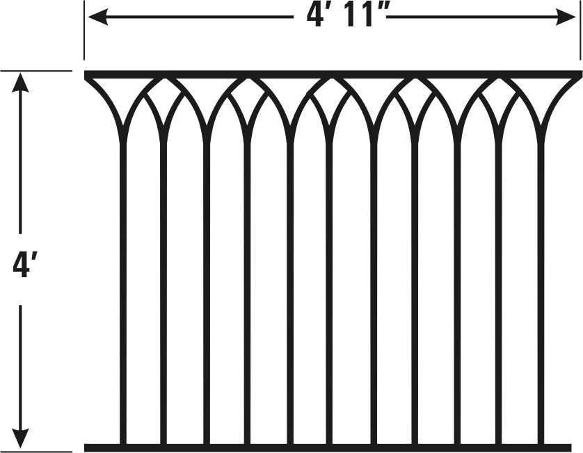 CATHEDRAL MODEL - CAST IRON FENCING