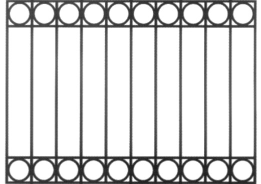 CENTENNIAL MODEL - CAST IRON FENCING