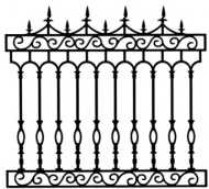 Cast Iron Fence: Paladin model