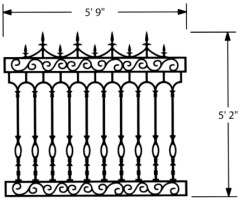 PALADIN MODEL - CAST IRON FENCING