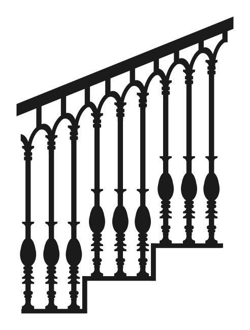 Cast Iron Metal Railing